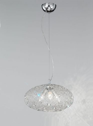 Franklite FL2288/3 Chrome Pendant Light